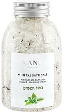 Düfte, Parfümerie und Kosmetik Mineral Badesalz Grüner Tee - Kanu Nature Mineral Green Tea Bath Salt