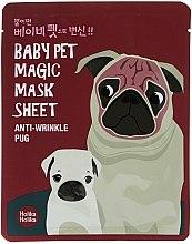 Düfte, Parfümerie und Kosmetik Anti-Falten Tuchmaske für das Gesicht - Holika Holika Baby Pet Magic Mask Sheet Anti-Wrinkle Pug