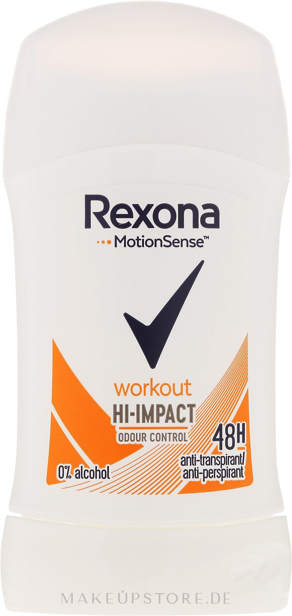 Deostick Antitranspirant - Rexona Motionsense Workout Hi-impact 48h Anti-perspirant — Bild 40 ml
