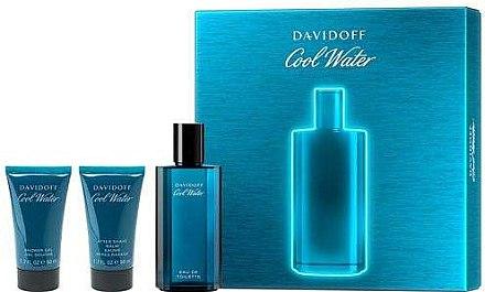 Davidoff Cool Water - Duftset (Eau de Toilette 75ml + Duschgel 50ml + After Shave Balsam 50ml) — Bild N1