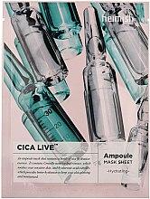 Düfte, Parfümerie und Kosmetik Feuchtigkeitsspendende und beruhigende Ampullen-Tuchmaske - Heimish Cica Live Ampoule Mask