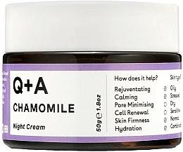 Düfte, Parfümerie und Kosmetik Nachtcreme für das Gesicht mit Kamille - Q+A Chamomile Night Cream
