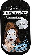 Düfte, Parfümerie und Kosmetik Feuchtigkeitsspendende und aufhellende Gesichtsmaske mit Reis - PurenSkin Rice Brightening Mask