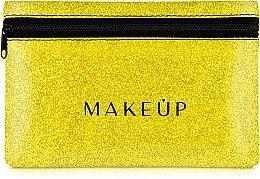 Düfte, Parfümerie und Kosmetik Kosmetiktasche Glitter Pouch goldfarbig 18x11 cm - MakeUp
