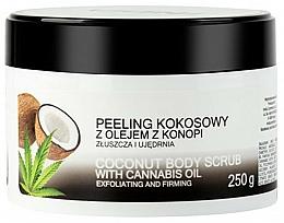 Düfte, Parfümerie und Kosmetik Kokos-Körperpeeling mit Cannabisöl - India Coconut Body Scrub Cannabis Oil