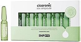 Düfte, Parfümerie und Kosmetik Beruhigende, feuchtigkeitsspendende, regenerierende Gesichtsampullen für empfindliche und trockene Haut - SNP Prep Cicaronic SOS Ampoule