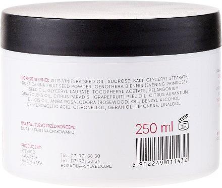 Körperpeeling mit gemahlenen Hagebutten, Rosenholzöl und Vitamin E - Rosadia — Bild N2