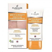 Düfte, Parfümerie und Kosmetik Aufhellende Anti-Aging Handcreme gegen Pigmentflecken mit Sheabutter und Vitamin E - Floslek White & Beauty Anti-Aging Hand Cream