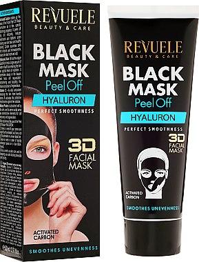 Schwarze Peel-Off Gesichtsmaske mit Hyaluronsäure - Revuele Black Mask Peel Off Hyaluron — Bild N1