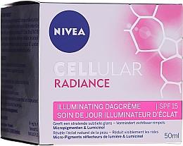 Düfte, Parfümerie und Kosmetik Aufhellende Tagescreme für das Gesicht SPF 15 - Nivea Cellular Radiance Illuminating Day Cream SPF 15