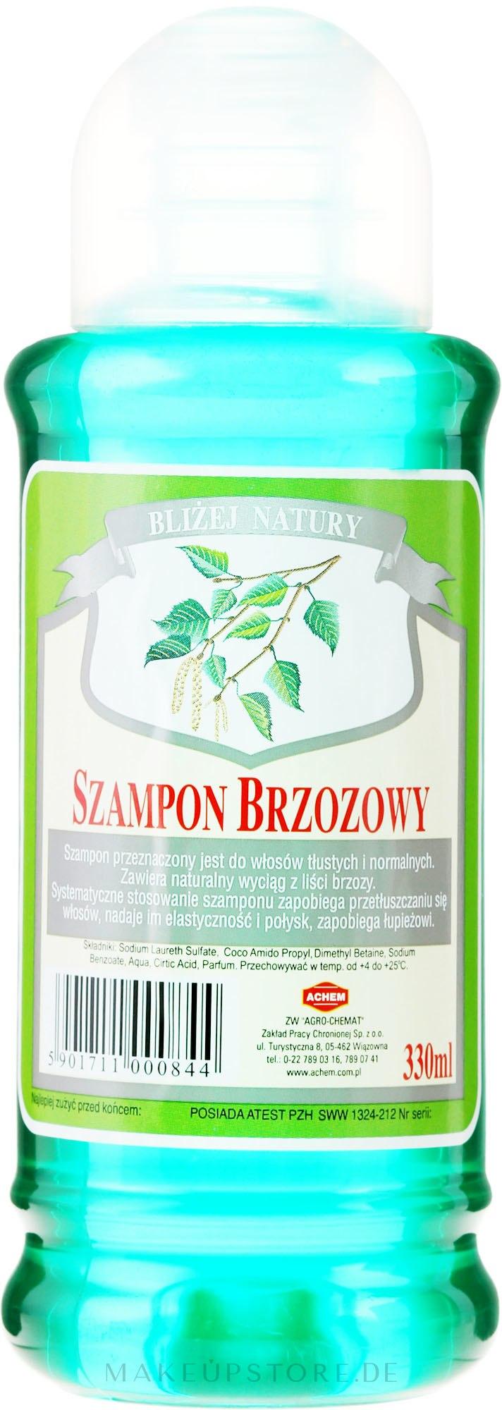 """Shampoo für normales und fettiges Haar """"Birke"""" - Achem Popular Birch Shampoo — Bild 330 ml"""
