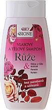 Düfte, Parfümerie und Kosmetik Haar und Körper Shampoo mit Rosenextrakt - Bione Cosmetics Rose Shampoo