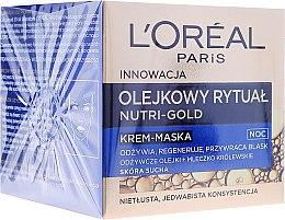 Gesichtscreme-Maske für die Nacht mit äterischen Ölen und Gelée Royale - L'Oreal Paris Nutri Gold Night Cream-Mask — Bild N1