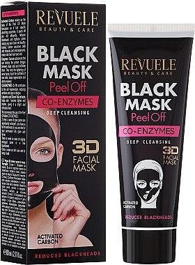 Schwarze Peel-Off Gesichtsmaske mit Coenzym Q10 - Revuele Black Mask Peel Off Co-Enzymes — Bild N1
