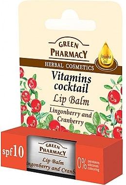 "Lippenbalsam ""Preiselbeere und Moosbeere"" - Green Pharmacy Lip Balm With Lingonberry And Cranberry — Bild N1"