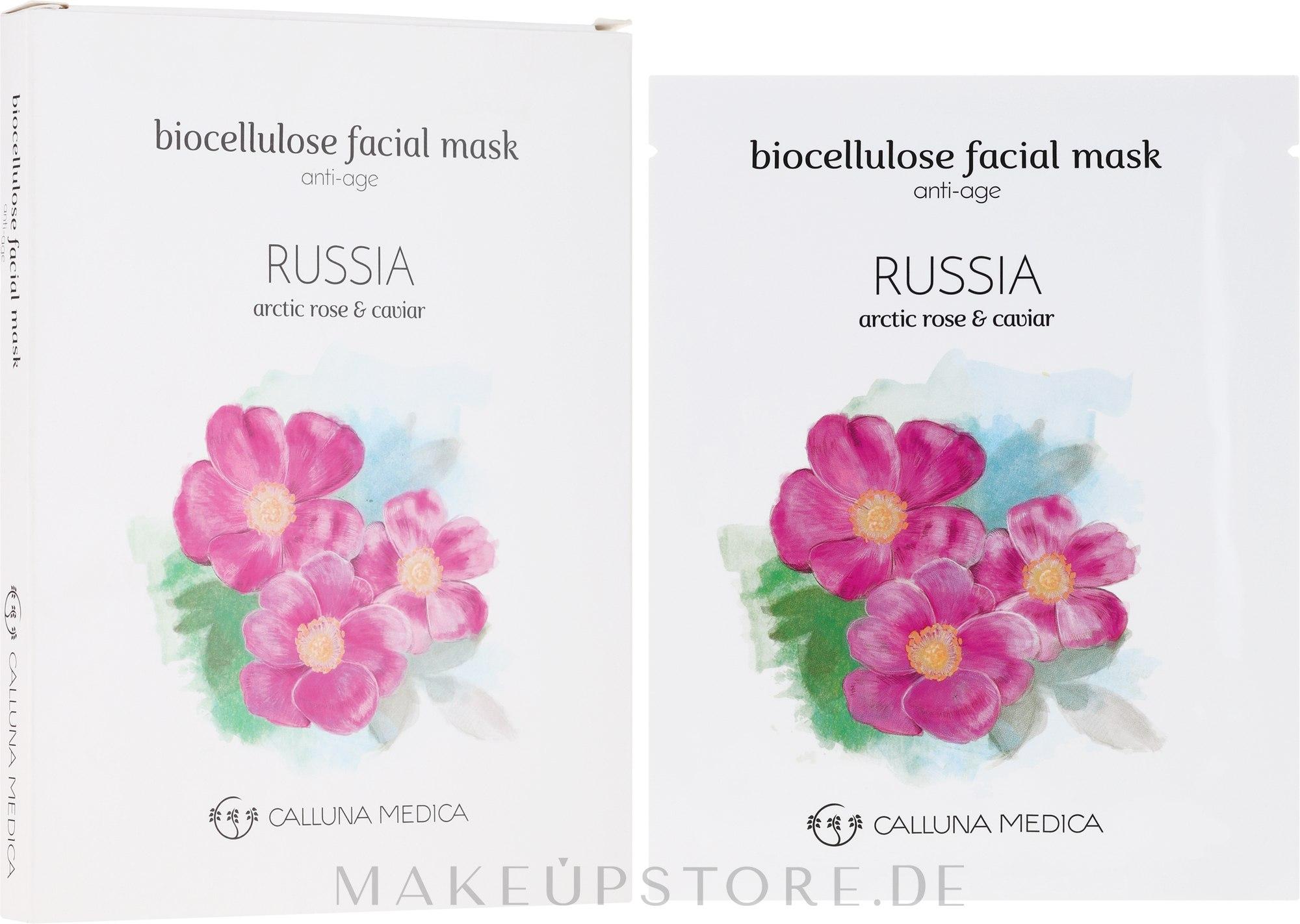 Anti-Aging Tuchmaske für das Gesicht Russland - Calluna Medica Russia Anti-Age Biocellulose Facial Mask — Bild 12 ml