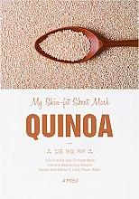 Düfte, Parfümerie und Kosmetik Feuchtigkeitsspendende Tuchmaske mit Quinoa-Extrakt - A'Pieu My Skin-Fit Sheet Mask Quinoa