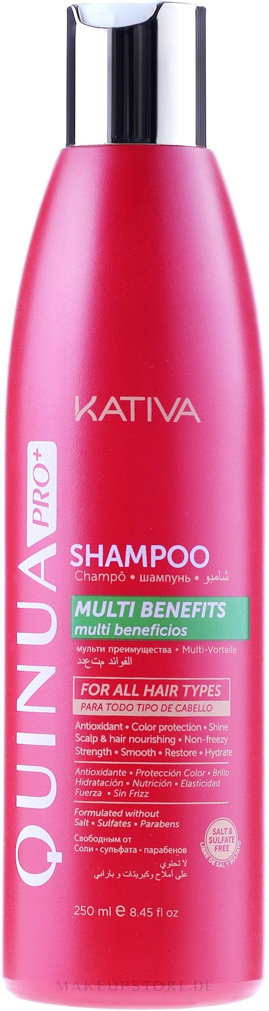 Farbschutz-Shampoo für coloriertes Haar - Kativa Quinua PRO Shampoo — Bild 250 ml