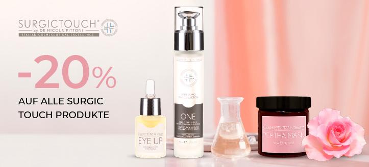 -20% auf alle Surgic Touch Produkte. Die Preise auf der Website sind inklusive Rabatt