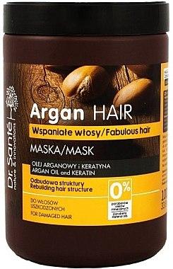 Haarmaske für geschädigtes Haar mit Arganöl und Keratin - Dr. Sante Argan Hair — Bild N1