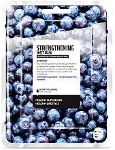 Düfte, Parfümerie und Kosmetik Stärkende Tuchmaske mit Heidelbeerextrakt - Superfood For Skin Strengthening Sheet Mask