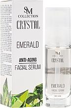 Düfte, Parfümerie und Kosmetik Festigendes Anti-Aging Gesichtsgelserum mit Smaragd - SM Collection Crystal