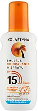 Düfte, Parfümerie und Kosmetik Bräunungsemulsion SPF 15 - Kolastyna Emulsion Spray SPF 15