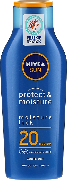 Feuchtigkeitsspendende Sonnenschutzlotion SPF 20 - Nivea Sun Protect & Moisture Sun Lotion SPF20 — Bild N1