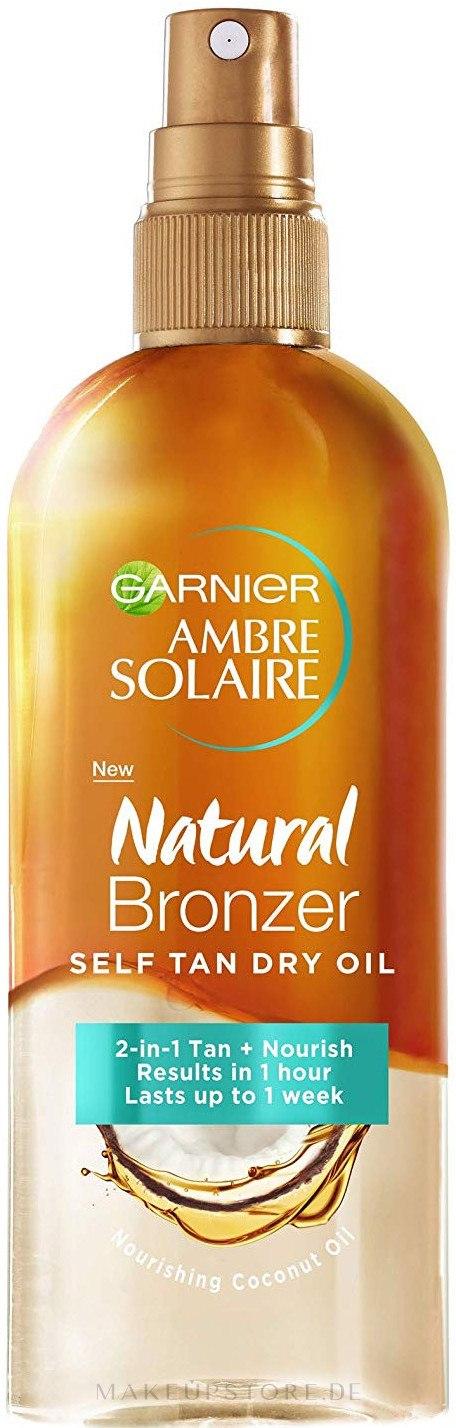 Garnier Ambre Solaire Natural Bronzer Self Tan Dry Oil