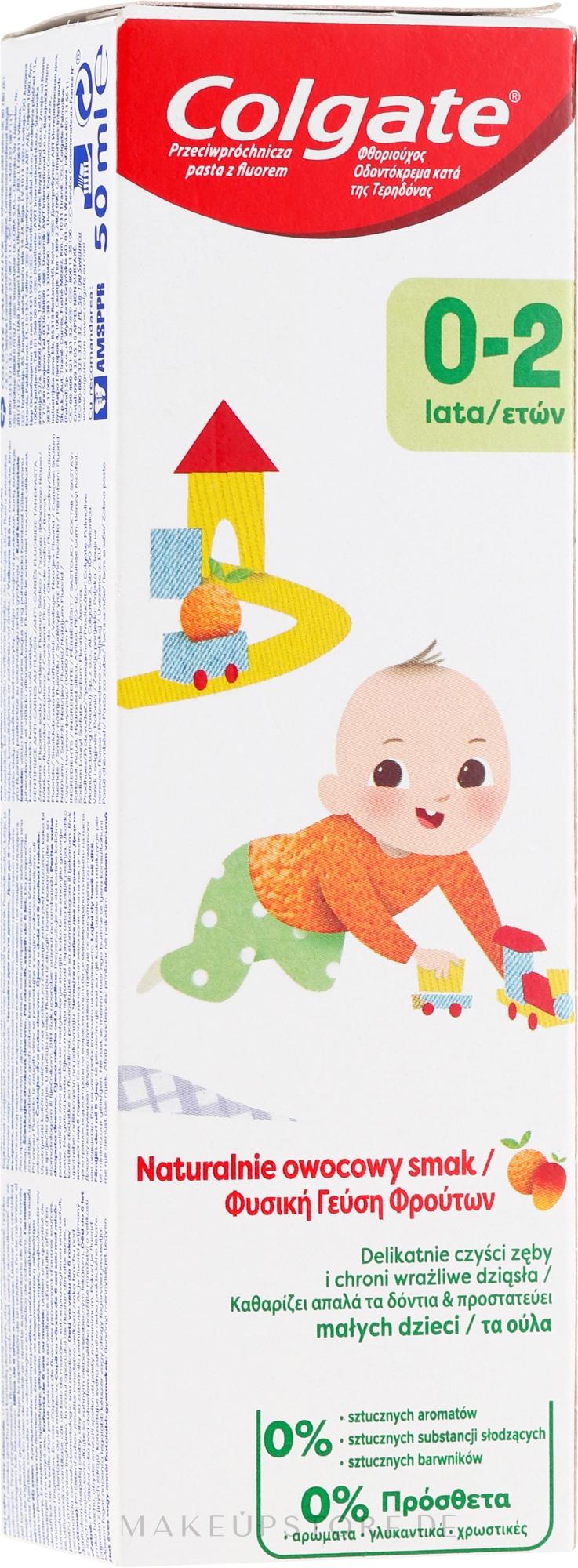 Kinderzahnpasta mit natürlichem Fruchtgeschmack 0-2 Jahre - Colgate Kids Tooth Paste — Bild 50 ml