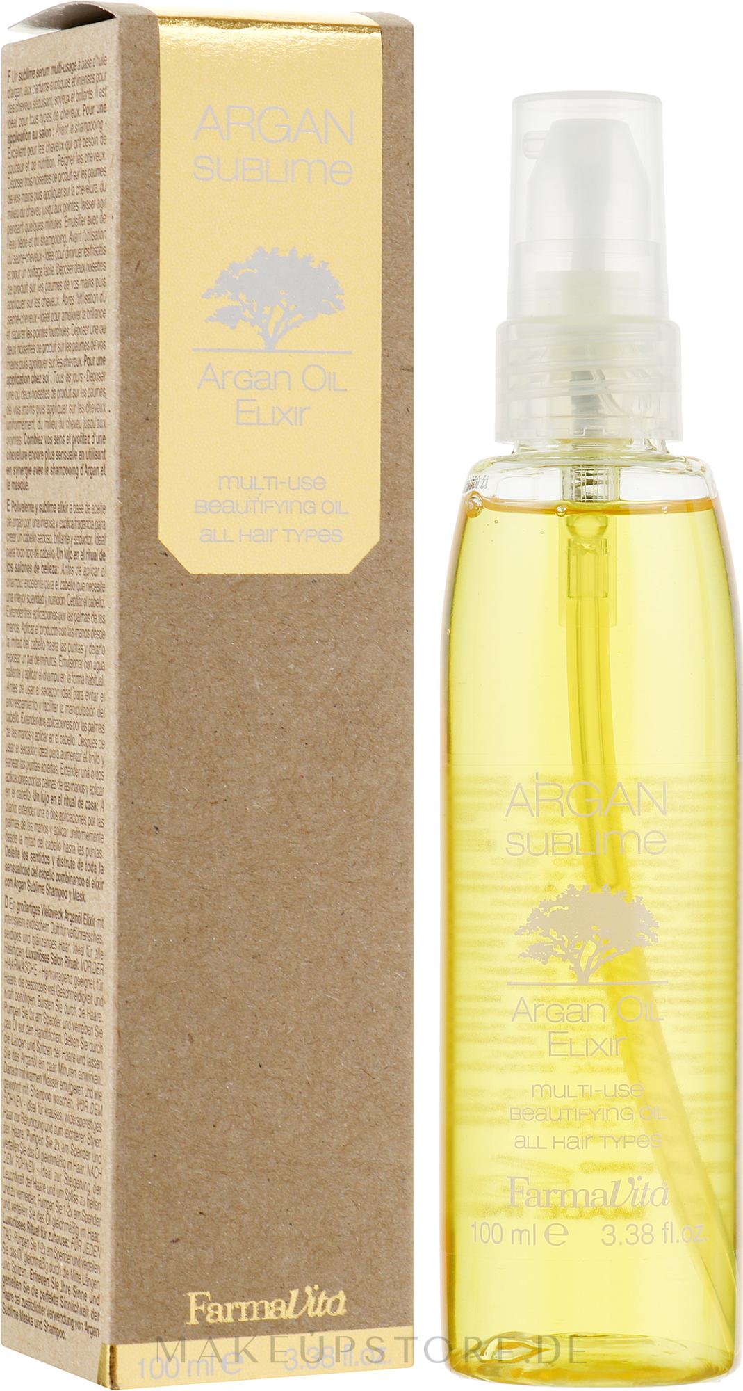 Haarelixier mit Arganöl - Farmavita Argan Sublime Elexir — Bild 100 ml