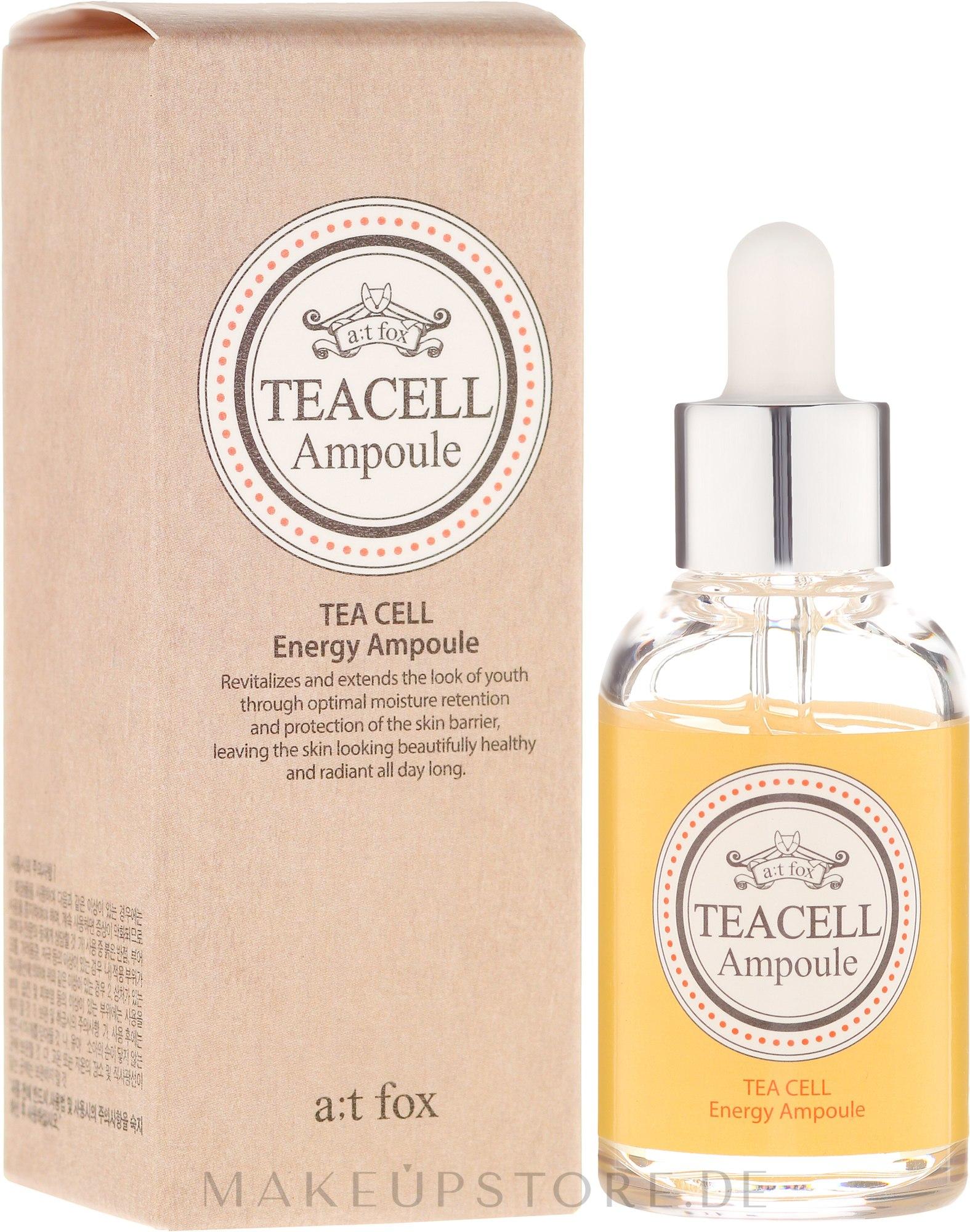 Regenerierendes Gesichtsserum mit japanischem Tee - A:t Fox Teacell Face Serum — Bild 50 ml