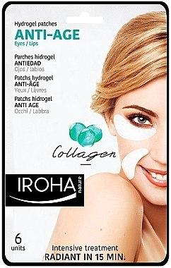Anti-Aging Gelpatches mit Kollagen - Iroha Nature Anti Age Hydrogel Patches Collagen — Bild N1
