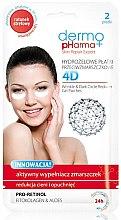 Düfte, Parfümerie und Kosmetik Anti-Falten Gesichtsmaske mit Fitokolagen und Aloe - Dermo Pharma 4D Wrinkle & Dark Circle Reducer Gel Patches