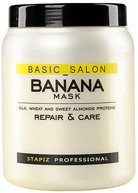 Jasmine Maske für erschöpftes Haar - Stapiz Basic Salon Banana Mask — Bild N1