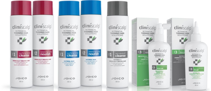 Haarpflegeset - Joico Cliniscalp 3-step Trial Kit For Natural Hair Early Stages (Shampoo 100ml + Conditioner 100ml + Haarbehandlung 50ml) — Bild N3