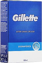 Düfte, Parfümerie und Kosmetik After Shave Lotion - Gillette Blue Storm Force After Shave Splash