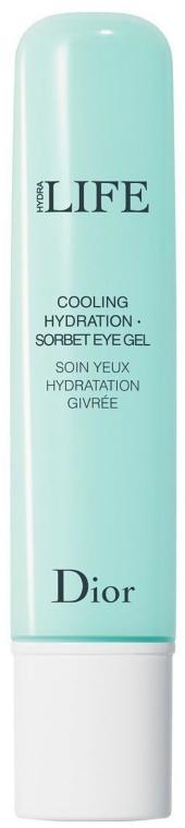 Feuchtigkeitsspendendes kühlendes Augengel - Dior Hydra Life Cooling Hydration Sorbet Eye Gel
