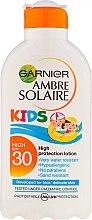 Kinder Feuchtigkeitsspendende Sonnenschutzmilch LSF 30+ - Garnier Ambre Solaire Kids High Protection Lotion — Bild N1