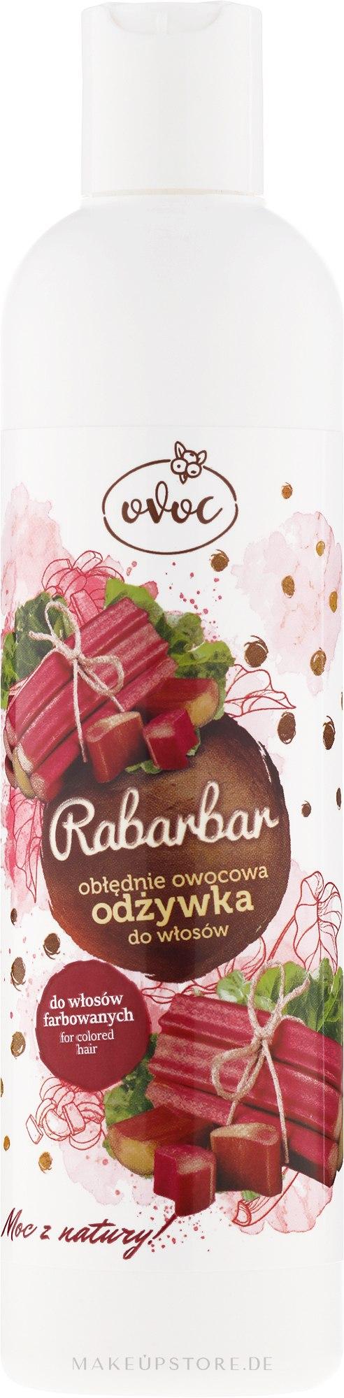 Haarspülung mit Rhabarberextrakt für gefärbtes Haar - Ovoc Rabarbar Conditioner — Bild 300 ml