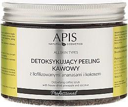 Düfte, Parfümerie und Kosmetik Kaffeekörperpeeling mit Ananas und Kokos - Apis Professional Detoxifying Coffee Scrub Pineapple