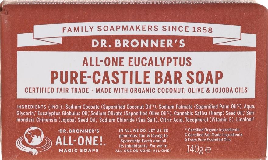 Seife mit Eukalyptus und Bio-Ölen - Dr. Bronner's Pure Castile Bar Soap Eucalyptus — Bild N1