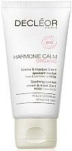 Düfte, Parfümerie und Kosmetik 2in1 Beruhigende Crememaske für das Gesicht mit Rosenöl - Decleor Harmonie Calm Organic Soothing Comfort Cream & Mask 2in1
