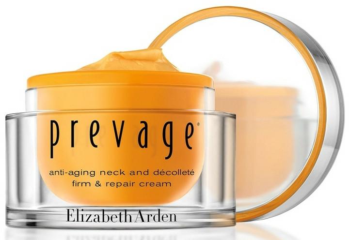 Straffende Pflege für Hals, Dekolleté und die Gesichtskonturen - Elizabeth Arden Prevage Neck and Decollette Firm & Repair Cream — Bild N4
