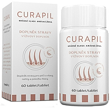 Düfte, Parfümerie und Kosmetik Nahrungsergänzungsmittel für schönes und gesundes Haar - Curapil Vitamins Hair Food Supplement