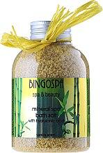 Düfte, Parfümerie und Kosmetik Mineralisches Badesalz mit Hialuronsaure und Vanilleduft - BingoSpa