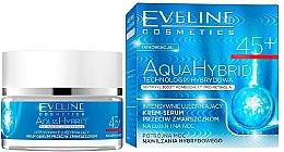 Düfte, Parfümerie und Kosmetik Intensiv straffendes Anti-Falten Creme-Serum 45+ - Eveline Cosmetics Aqua Hybrid Cream-Serum 45+