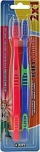 Düfte, Parfümerie und Kosmetik Kinderzahnbürste blau, rot 2 St. - Kin Junior Toothbrush Pack