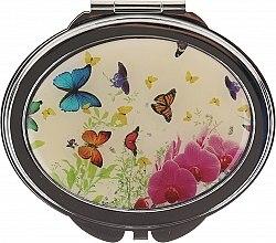 Düfte, Parfümerie und Kosmetik Kosmetischer Taschenspiegel Schmetterlinge und Orchidee 85451 - Top Choice