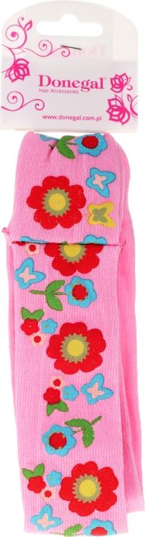 Haarband 5495 rosa mit Blumen - Donegal — Bild N1